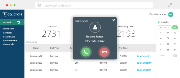 Inbound Call Center Screenshot