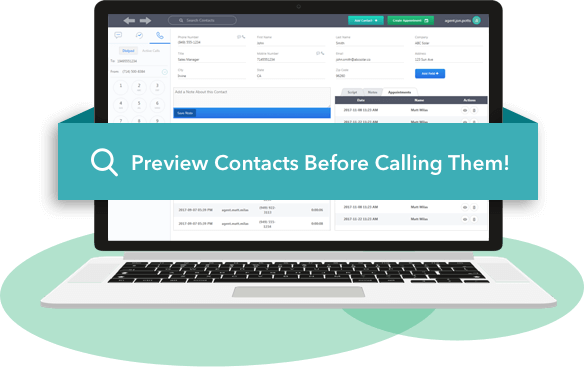 Preview Contacts Before Calling